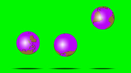 3 BOUNCING GLOBES Animation