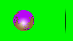 BOUNCING GLOBE (vertical) Stock Video Footage