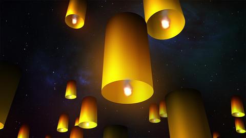 Launching sky lanterns Animation