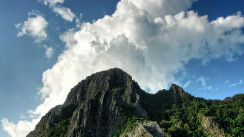Head of a mountain and sky time lapse Stock Video Footage