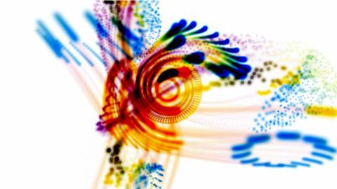 fiber optic,disco flower light,Magnetic field,tech grid... Stock Video Footage