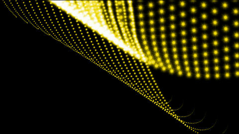 A string of beads,golden chain lights,fiber... Stock Video Footage