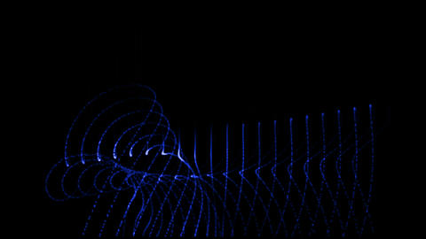 abstract blue ray and light,fiber optic,antenna,web tech... Stock Video Footage