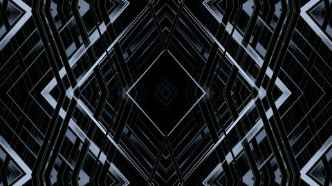 metal pipe Intertwined in 3d space,diamond shaped... Stock Video Footage