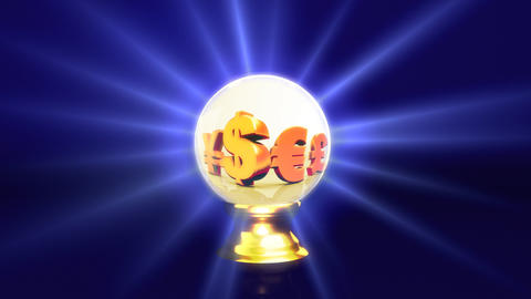 crystal ball future dollar sign Stock Video Footage