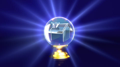 crystal ball future house Stock Video Footage