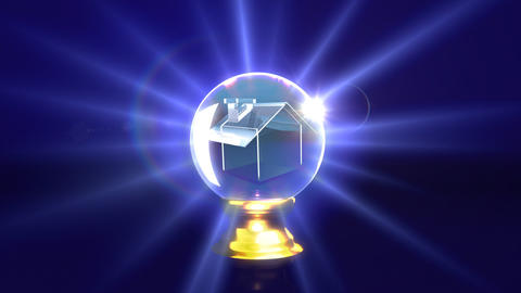 crystal ball future house Animation