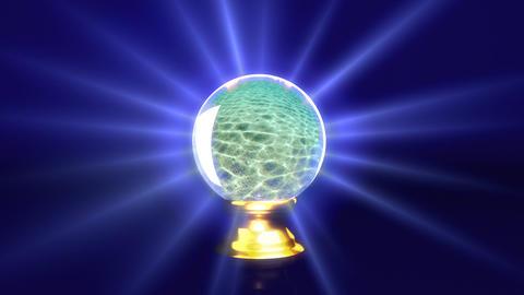 crystal ball future sea Stock Video Footage