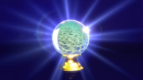 crystal ball future sea Animation