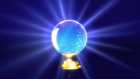crystal ball future water Stock Video Footage