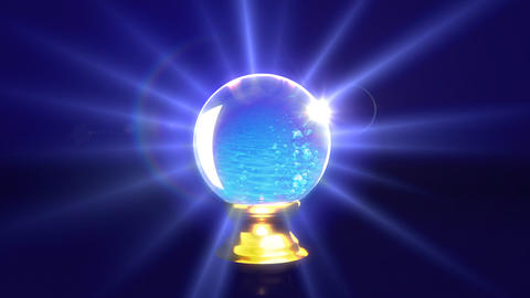 crystal ball future water Animation