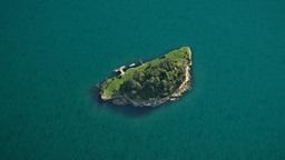 pacific island green ocean Stock Video Footage