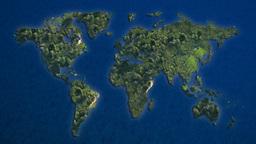 world islands blue ocean, Stock Animation