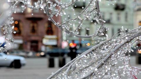 City winter celebration Stock Video Footage