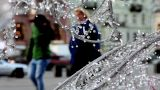 City Winter Celebration stock footage