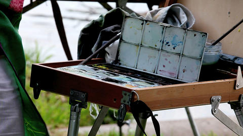 easel Stock Video Footage