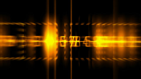 golden number and light,blur business... Stock Video Footage