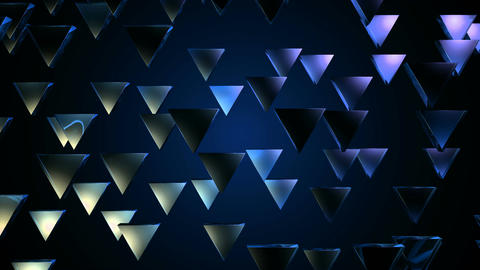 blue triagonal pieces Animation