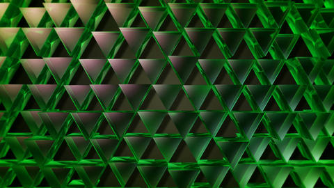 green color triangle Animation