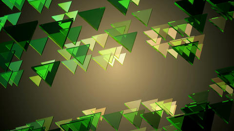 green glowing triangle Animation