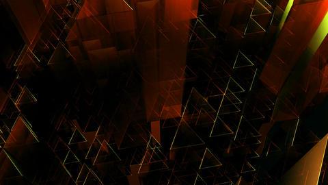 orange triagonal tube Animation
