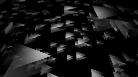 flying white triangle Animation