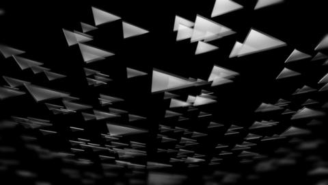 rotating white triangle Animation