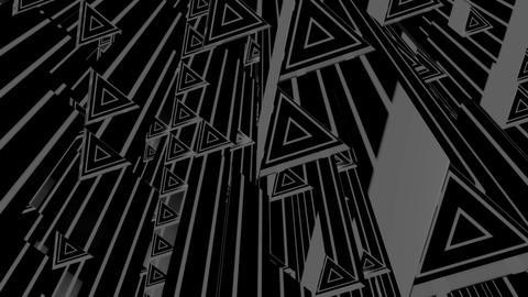 white triangle tubes Animation