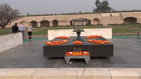 Raj Ghat/ Raj Ghat, A Memorial To Mahatma Gandhi stock footage