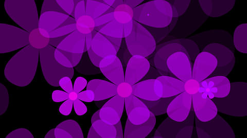 tileable purple flower pattern with alpha Animation