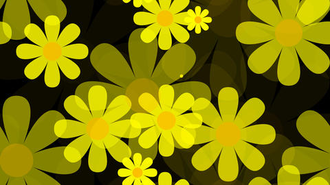 tileable yelllow flower background with alpha Animation