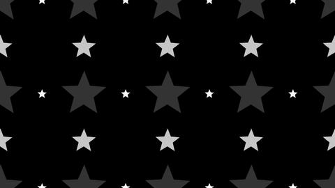 Tileable White Star Array With Alpha stock footage