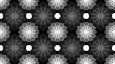 Tileable Flower Pattern Monochrome With Alpha stock footage