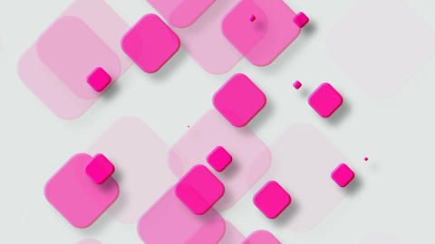 Tileable Pink Rounded Square stock footage