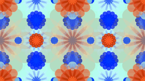 tileable vintage flowers kaleidoscope Animation
