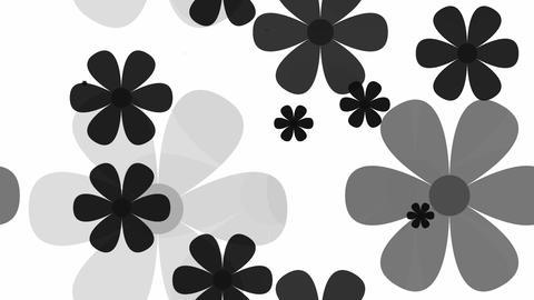 tileable black flower pattern Animation