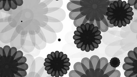 tileable black flower overlay Animation