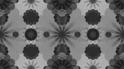 tileable gray flowers kaleidoscope Animation