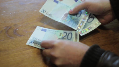 Money Count stock footage