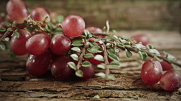 A bunch of Grapes with a rustic background HD stock footage Footage