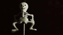 Comical Skeleton Close Up HD Stock Footage stock footage
