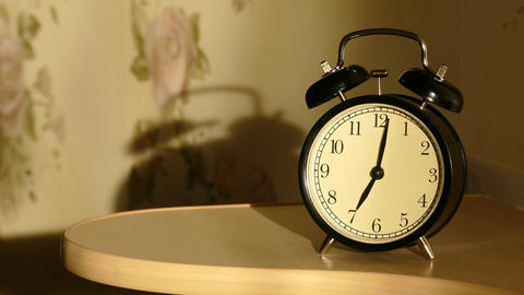 Vintage Alarm Clock 4k stock footage