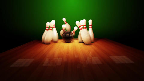 Bowling strike realistic timewarp 3d animation Animation