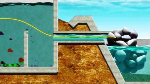 Natural Waste Water Treatment stock footage