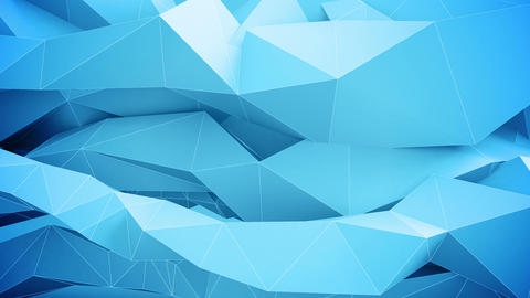 Adstract geometric shapes in motion. Blue Animation