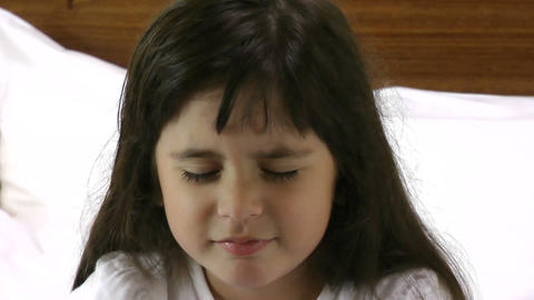Sad Little Girl stock footage