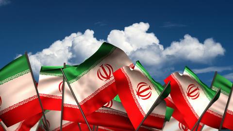 Waving El Iranian Flags Animation