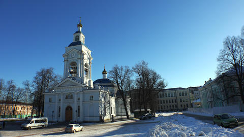 Vyborg. Transfiguration Cathedral. 4K Footage