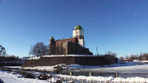 Vyborg. Vyborg castle. 4K Footage