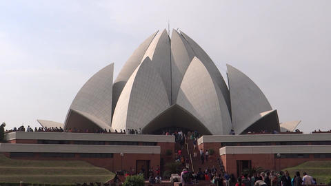 Lotus Temple or Bahai House of Worship, New Delhi Footage
